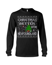 Christmas Is Better With A Newfoundland Newfie Long Sleeve Tee thumbnail