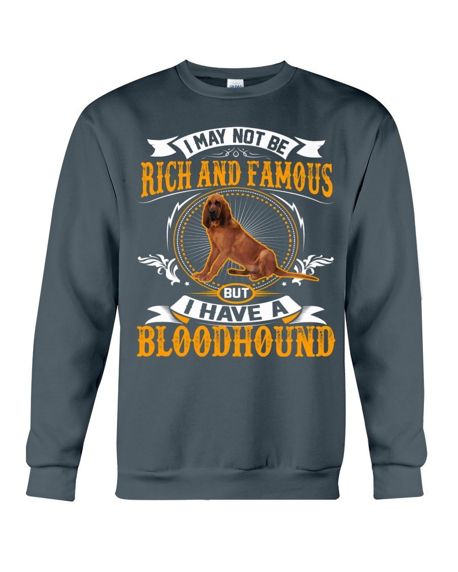 Rich And Famous With Bloodhound Crewneck Sweatshirt