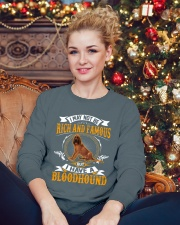 Rich And Famous With Bloodhound Crewneck Sweatshirt lifestyle-holiday-sweater-front-2