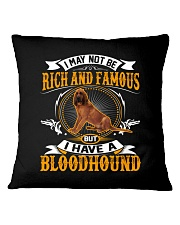 Rich And Famous With Bloodhound Square Pillowcase thumbnail