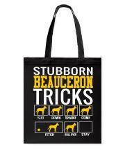 Stubborn Beauceron Tricks Tote Bag thumbnail