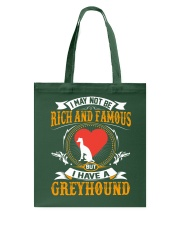 Rich And Famous WIth Greyhound Tote Bag thumbnail