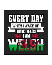 Thanks Lord I am Welsh Square Coaster front