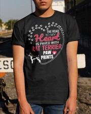 My Heart Paved With Rat Terrier Paw Prints Classic T-Shirt apparel-classic-tshirt-lifestyle-29