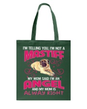 My Mastiff Is My Angel Tote Bag thumbnail