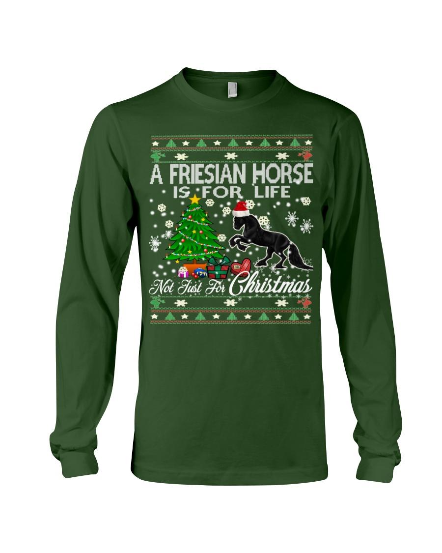 Friesian Horse Just For Christmas Long Sleeve Tee