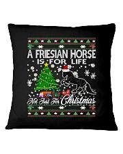 Friesian Horse Just For Christmas Square Pillowcase thumbnail