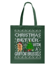 Christmas Is Better With A Griffon Brussels Tote Bag thumbnail