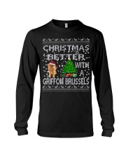 Christmas Is Better With A Griffon Brussels Long Sleeve Tee thumbnail
