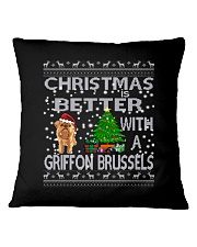 Christmas Is Better With A Griffon Brussels Square Pillowcase thumbnail