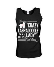 Crazy Labradoodle Lady Unisex Tank thumbnail