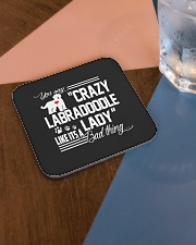 Crazy Labradoodle Lady Square Coaster aos-homeandliving-coasters-square-lifestyle-01
