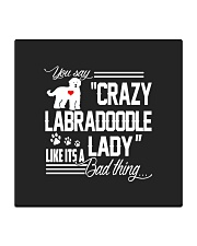 Crazy Labradoodle Lady Square Coaster thumbnail