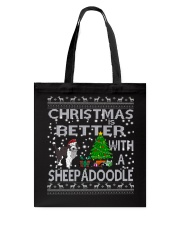 Christmas is Better with My Sheepadoodle Tote Bag thumbnail