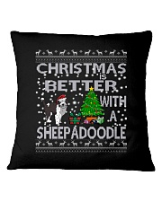 Christmas is Better with My Sheepadoodle Square Pillowcase thumbnail