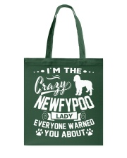 Crazy Newfypoo Lady Tote Bag thumbnail
