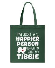 Happier Person Tibetan Spaniel Tote Bag thumbnail