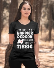 Happier Person Tibetan Spaniel Ladies T-Shirt apparel-ladies-t-shirt-lifestyle-05