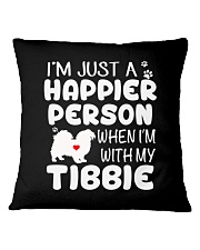 Happier Person Tibetan Spaniel Square Pillowcase thumbnail