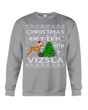 Christmas Is Better With A Vizsla Crewneck Sweatshirt tile