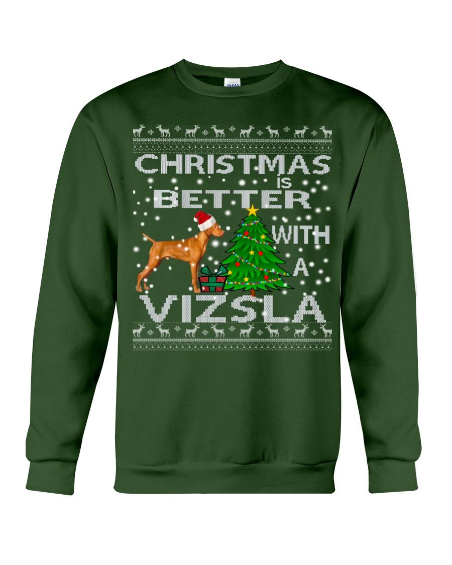 Christmas Is Better With A Vizsla Crewneck Sweatshirt