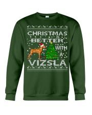 Christmas Is Better With A Vizsla Crewneck Sweatshirt front