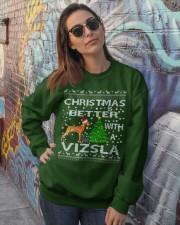 Christmas Is Better With A Vizsla Crewneck Sweatshirt lifestyle-unisex-sweatshirt-front-3