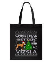 Christmas Is Better With A Vizsla Tote Bag thumbnail