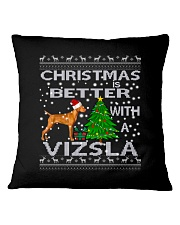 Christmas Is Better With A Vizsla Square Pillowcase thumbnail