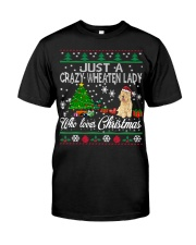 Crazy Wheaten Lady Who Loves Christmas Classic T-Shirt thumbnail