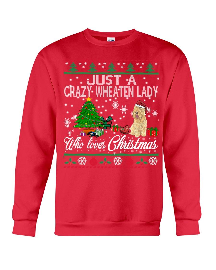Crazy Wheaten Lady Who Loves Christmas Crewneck Sweatshirt