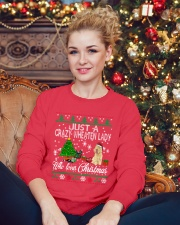 Crazy Wheaten Lady Who Loves Christmas Crewneck Sweatshirt lifestyle-holiday-sweater-front-2