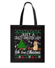 Crazy Wheaten Lady Who Loves Christmas Tote Bag thumbnail