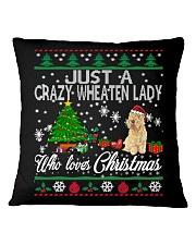 Crazy Wheaten Lady Who Loves Christmas Square Pillowcase thumbnail