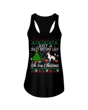 Crazy Brittany Lady Who Loves Christmas Ladies Flowy Tank thumbnail