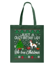 Crazy Brittany Lady Who Loves Christmas Tote Bag thumbnail