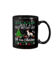 Crazy Brittany Lady Who Loves Christmas Mug thumbnail