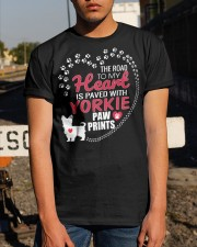 My Heart Paved With Yorkie Paw Prints Classic T-Shirt apparel-classic-tshirt-lifestyle-29