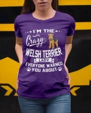 Crazy Welsh Terrier Lady Ladies T-Shirt apparel-ladies-t-shirt-lifestyle-04