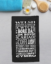 WELSH CWTCH BORE DA Hand Towel aos-towelhands-front-lifestyle-7