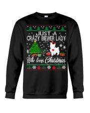 Crazy Lady Loves Biewer And Christmas Crewneck Sweatshirt tile