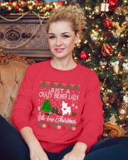 Crazy Lady Loves Biewer And Christmas Crewneck Sweatshirt lifestyle-holiday-sweater-front-2