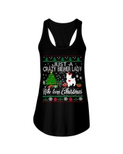 Crazy Lady Loves Biewer And Christmas Ladies Flowy Tank thumbnail
