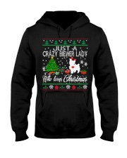 Crazy Lady Loves Biewer And Christmas Hooded Sweatshirt thumbnail