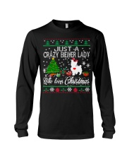 Crazy Lady Loves Biewer And Christmas Long Sleeve Tee thumbnail