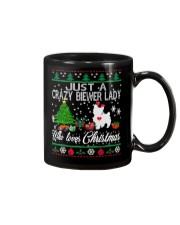 Crazy Lady Loves Biewer And Christmas Mug thumbnail