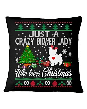 Crazy Lady Loves Biewer And Christmas Square Pillowcase thumbnail