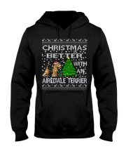 Christmas Is Better With An Airedale Terrier Hooded Sweatshirt thumbnail