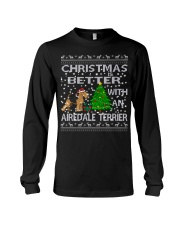 Christmas Is Better With An Airedale Terrier Long Sleeve Tee thumbnail