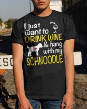 Drink Wine WIth My Schnoodle Classic T-Shirt apparel-classic-tshirt-lifestyle-29